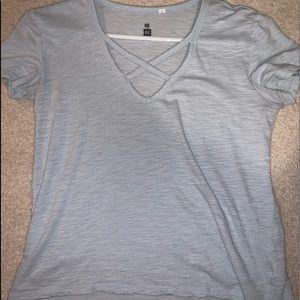 Me to we: light blue shirt